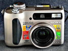 Sony Cyber-Shot  DSC-S75 w C Zeiss 7-21mm f/2 Zoom Lens 4 Students Realtors Nice - $22.00