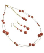 Gorgeous Sexy Party Wear Jewelry Orange Pearls ... - $28.33