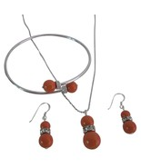 Buy Fascinating Coral Pearls Complete Wedding J... - $27.68