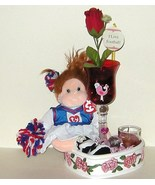 Beanie Kids Ginger Cheerleader Wine Glass Vase ... - $11.00