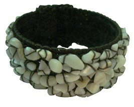 Smart Gift Wax Chord Bracelet w/ Natural Nuggets - $15.33