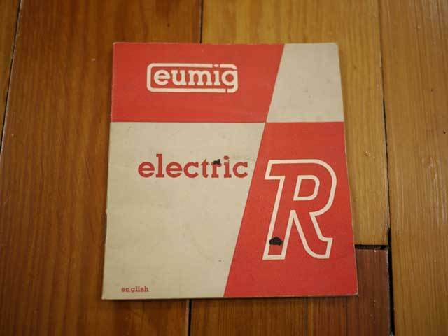 Primary image for Vintage 40s 50s Eumig Electric R 8mm Film Camera Manual Booklet Guide Pamphlet