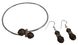 Save On Jewelry Swarovski Smoked Topaz Crystals Bridesmaid Jewelry - $23.13