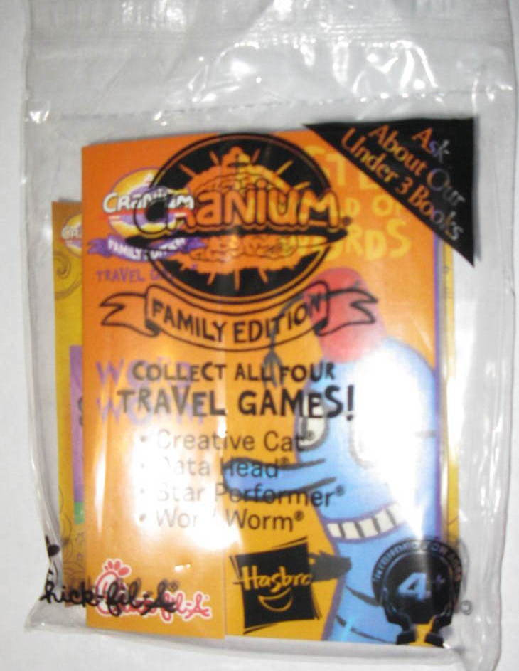 Chick Fil A Cranium Family Edition Travel Game Word Worm New