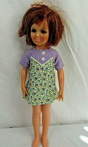 "Vintage Ideal Crissy Doll Red Hair Growing Hair Sleepy Eyes 18"" Plastic ... - $29.69"