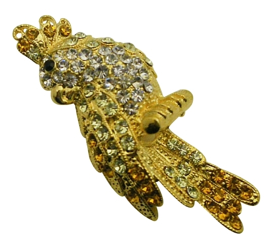 Stunning Gold Brid Brooch Handbag Jacket Brooch Sparkle Shine Crystals - $15.98