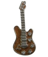 Classic Guitar Brooch For Music Band Club & Fabulous Gift Music Lover - $8.83
