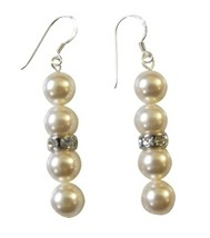 Ivory Pearls Fashion Jewelry Earrings Wedding Party Gift - $12.08