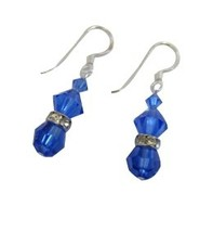 Dazzling Sapphire Crystals Mother Gift Valentine Earrings - $14.03