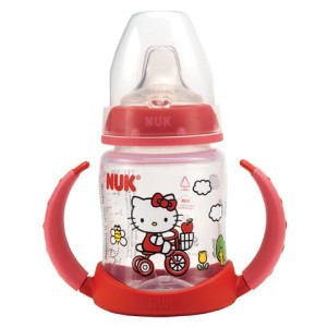 Primary image for Hello Kitty Learner Cup 5 oz Nuk USA LLC Sanrio NIB Replacement Spouts Available