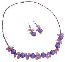 Holiday Gift Flower Girls Return Gift Purple Jewelry - $8.18