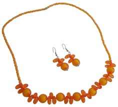 Orange Jewelry Set Christmas Little Girls Gift - $8.18
