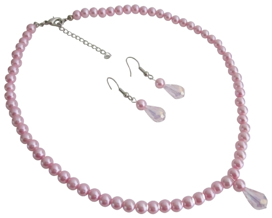 Gift for Daughter Christmas Gift Pink Pearls Jewelry