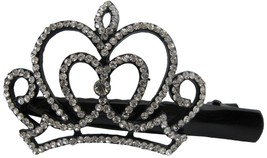 Rhinestone Curvy Crown Hair Clip Graduation Hair Accessory - $9.48