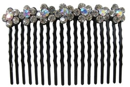 Bridal Hair Accessories Clear Crystals Flower Comb Barrette - $9.48