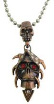 Shop Best Collection For Halloween Jewelry Copper Skull Pendant - $10.78