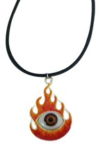 Burning Eye Necklace with Black Chord - $9.48