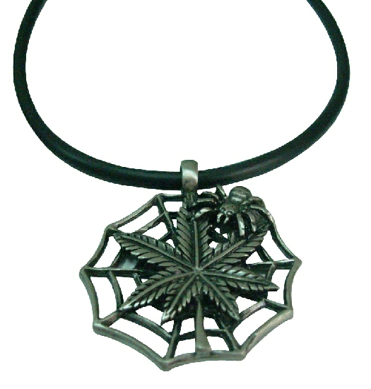 Spiderred Pendant Black Chord Necklace Best for Halloween Party