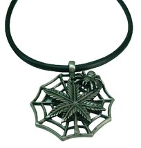 Spiderred Pendant Black Chord Necklace Best for Halloween Party - $9.48