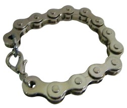 Stainless Steel Bike Chain Bracelet Holiday Gifts - $9.48