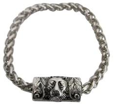 Fashion Personality Vintage Lion Head Engraved Man Bracelet - $9.48