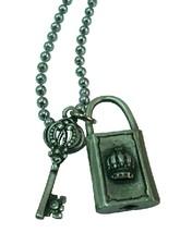 Lock & Key Crown HipHop Pendant Necklace - $9.48