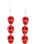 Unique Halloween Gift Skull Earrings - $8.18