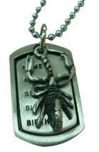 Scorpion Mens Dog Tag Pendant Necklace - $9.48