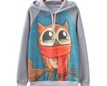 Autumn winter women casual hooded pullovers sweatshirt harajulu animal print ladie thumb155 crop
