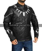 Black Panther Avengers Infinity War T'Challa (Chadwick Boseman) Black Leather Co image 3
