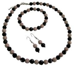 Wedding Gifts Holidays Gift Mocha And Black Combo Beads Jewelry - $10.13