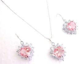 Girls Jewelry Rose Heart Pendant Earrings Set - $12.08