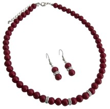Young Girls Beautiful Red Jewelry Unimaginable Its Breathtaking Set - $12.08