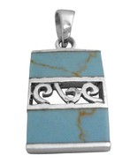 Web Turquoise Jewelry Sterling Pendant - $15.98