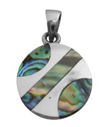 Rainbow Abalone Pendant Affordable Durable Sterling Pendant - $15.98