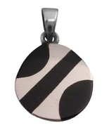 925 Sterling Silver 15mm Round Pendant Holiday Gift - $15.98