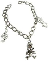 Skeleton Charm Bracelet Dangling Unique & Stylish Bracelet - $8.18