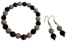 Inexpensive Flower Girl Bracelet Earring Mocha Black Jewelry - $8.18