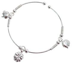 Christmas Bracelet Dangling Charms Adjustable Cuff Bracelet - $8.18