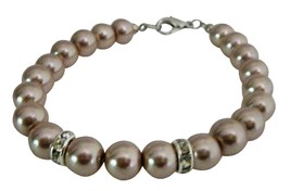 Fashion Wedding Classy Champagne Pearls Bracelets Very Economical - $8.83