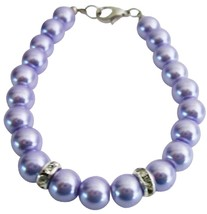 Flower Girl Bracelet Lilac Pearls Attractive Jewelry Wedding Jewelry - $8.83