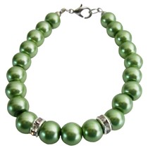 Bridal Party Low Prices Jewelry Green Color Pearls Wedding Bracelet - $8.83