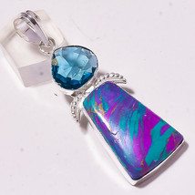 Rainbow Calsilica Faceted Iolite Gemstone Fashion Jewelry Pendant S-2.80... - $4.57