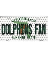 Dolphins Florida State Background Metal License Plate Tag (Dolphins Fan) - $11.95