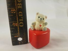Hallmark Valentines Day Trinket Box Heart with White Bear on Top image 6
