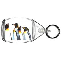 keyring double sided penguins brigade, keychain, keyfob