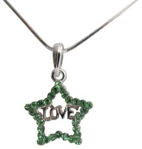 Valentine Gift To Your Love Star Pendant with Word Love Necklac - $9.48