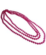Shopping Beach Necklace Pink Multifaceted Round Glass Bead Necklace - $9.17