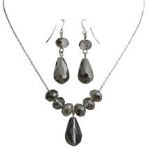 Classic Trendy Jewelry Black Diamond Crystals Teardrop Set - $8.85