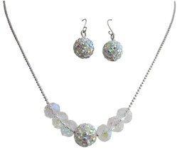 Handmade Wedding Jewelry AB Pave Ball Crystals Set - $8.59
